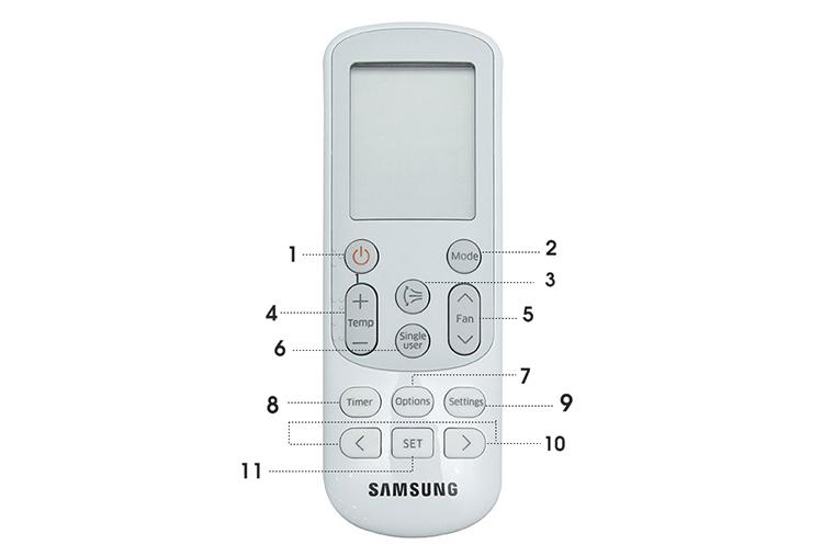 Hướng dẫn sử dụng điều hòa Samsung