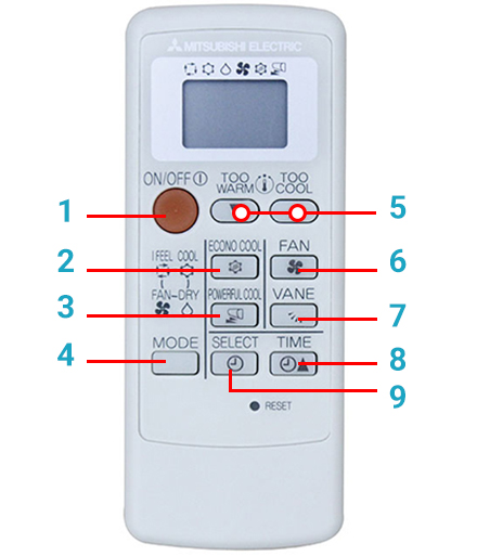 Hướng dẫn sử dụng điều hòa Mitsubishi Electric 1 chiều thường từng bước