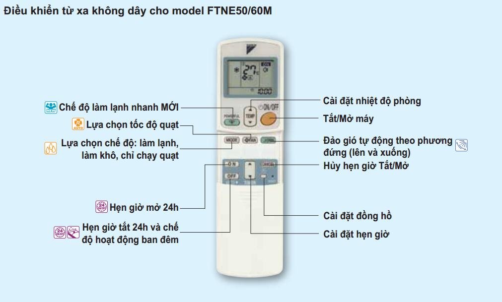 Cách bật chế độ hút ẩm điều hòa Daikin
