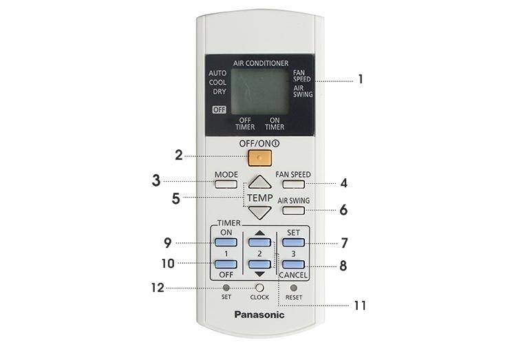 Cách bật chế độ hút ẩm điều hòa Panasonic