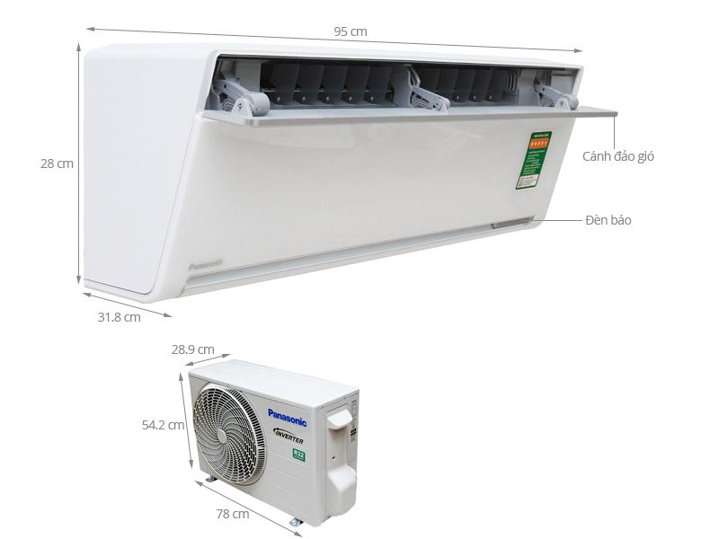 Điều hòa Panasonic inverter 1 chiều 18000 BTU VU18SKH-8 Ga R32
