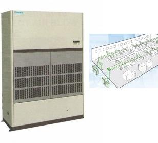 Điều hòa tủ đứng Packaged 100.000 BTU nối ống gió FVPG10BY1/RU10NY1