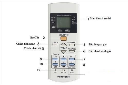 Cách sử dụng điều khiển điều hòa Panasonic