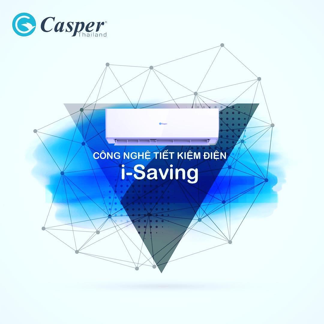 Điều hòa Casper với công nghệ inverter i-saving tiết kiệm điện hiệu quả