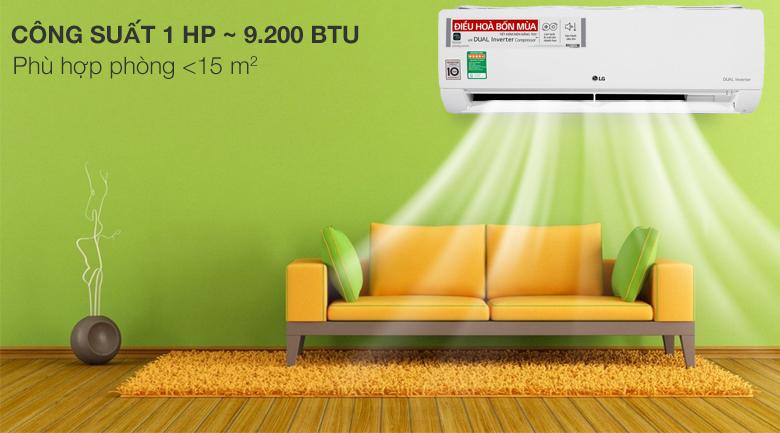 Điều hòa 2 chiều LG Inverter 9.200 BTU B10END